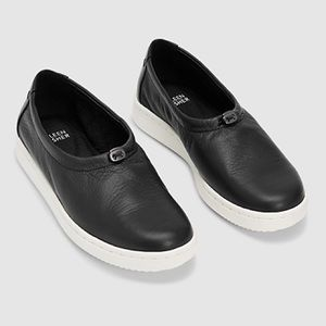 Eileen Fisher Sydney Leather Drawstring Sneakers